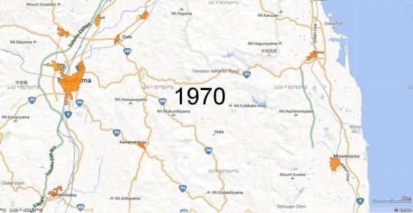 Fukushima Metro Area and Haramachi Micro Area, 1970