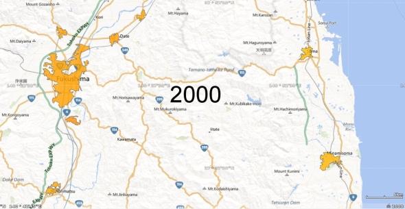 Fukushima Metro Area and Haramachi Micro Area, 2000
