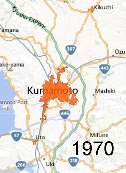 Kumamoto Metro Area, 1970