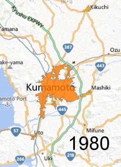 Kumamoto Metro Area, 1980