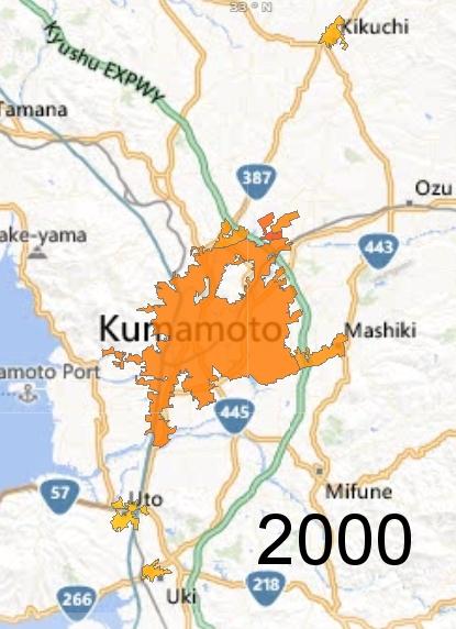 Kumamoto Metro Area, 2000