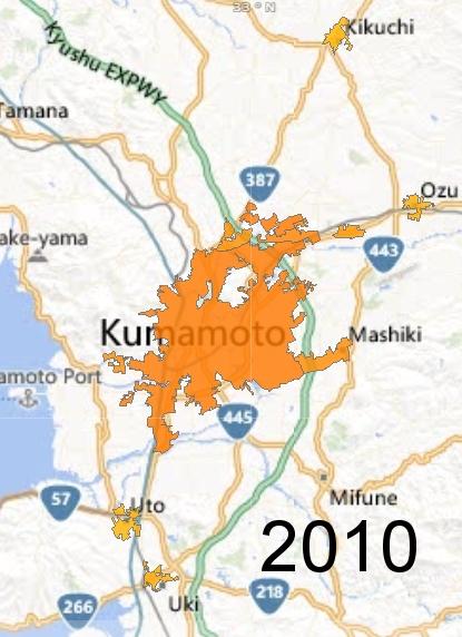 Kumamoto Metro Area, 2010