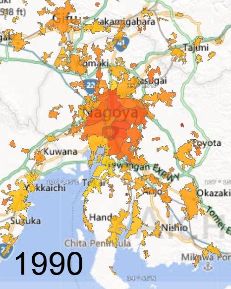 Nagoya Metro Area, 1990