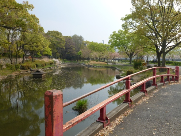 Not actually Fujita-tei, but part of the always-open river park outside.
