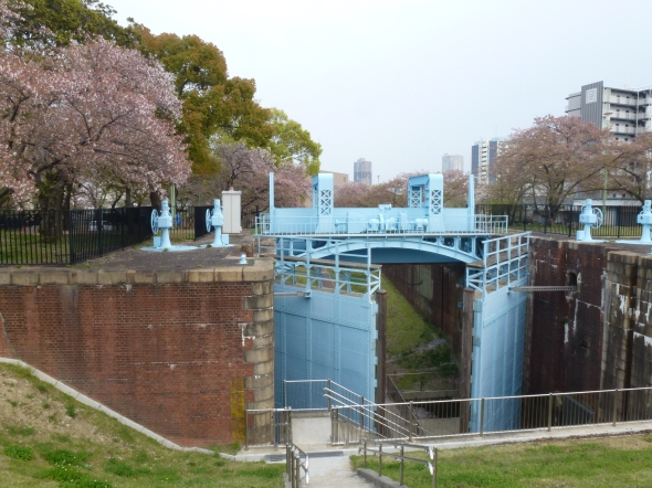 The locks for the old shipping channel.