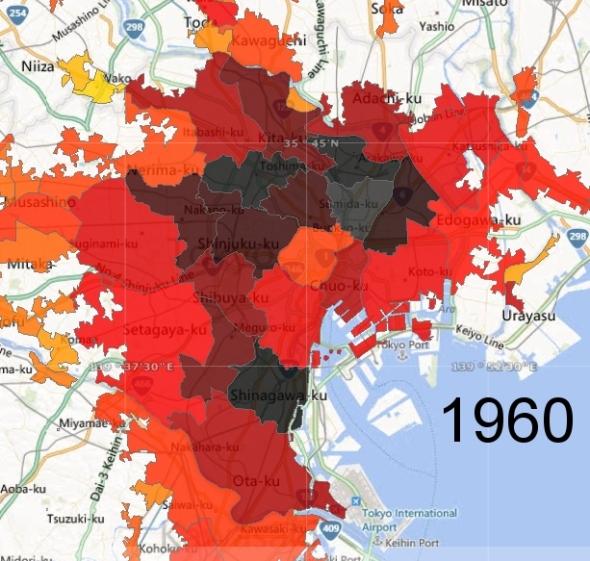Tokyo Ward Zone Detail, 1960