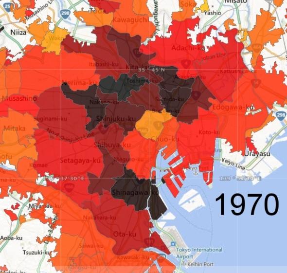 Tokyo Ward Zone Detail, 1970