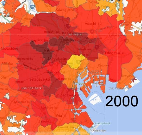 Tokyo Ward Zone Detail, 2000