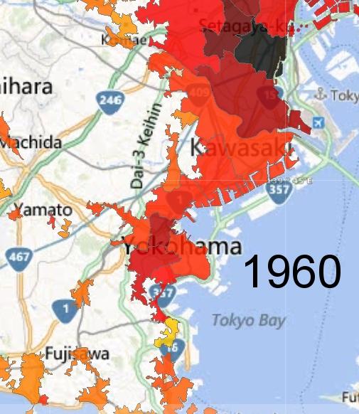 Yokohama and Kawasaki Detail, 1960