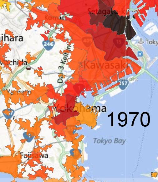 Yokohama and Kawasaki Detail, 1970
