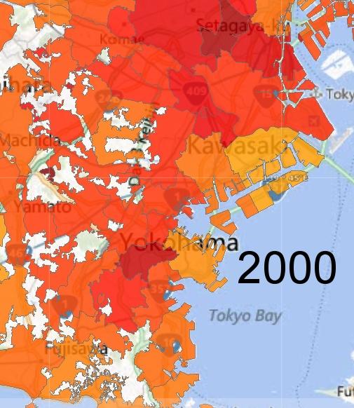 Yokohama and Kawasaki Detail, 2000
