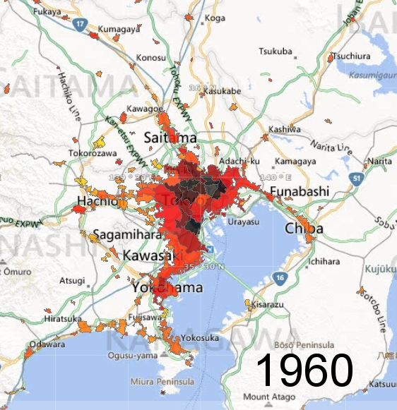 Greater Tokyo Metro Area, 1960