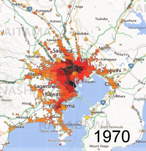 Greater Tokyo Metro Area, 1970