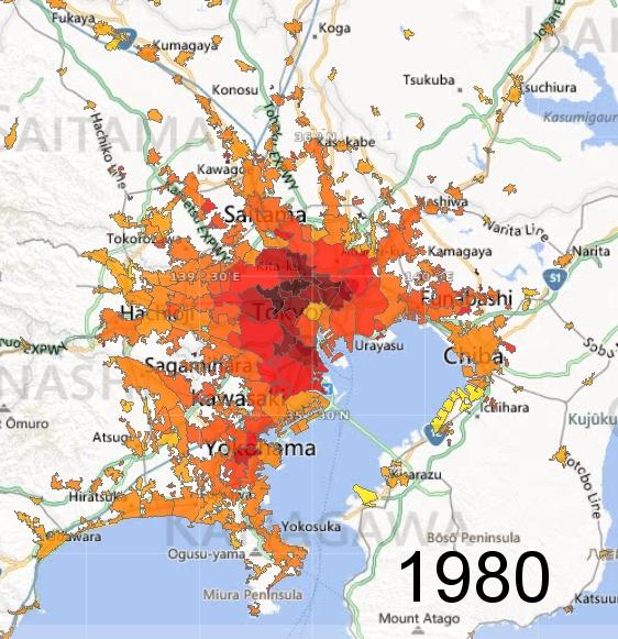 Greater Tokyo Metro Area, 1980