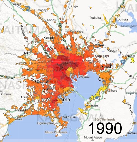 Greater Tokyo Metro Area, 1990