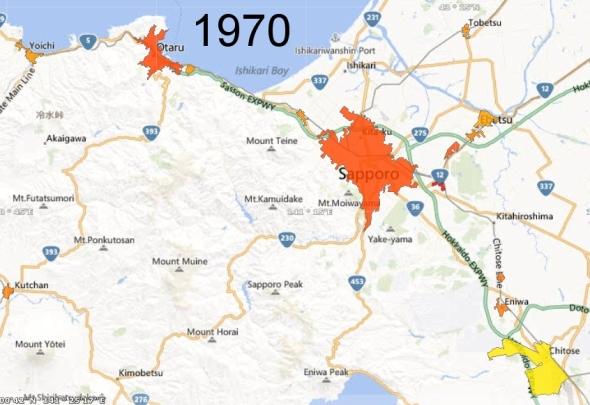 Sapporo Metro Area and Chitose Micro Area, 1970