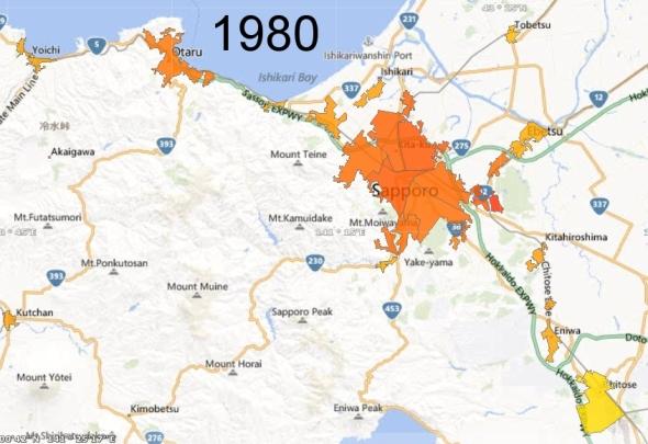 Sapporo Metro Area and Chitose Micro Area, 1980