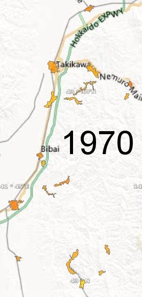 Sorachi Region, 1970