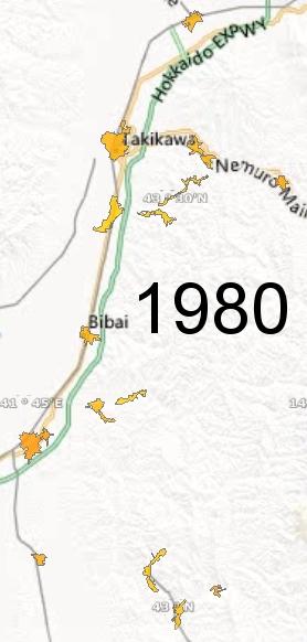 Sorachi Region, 1980