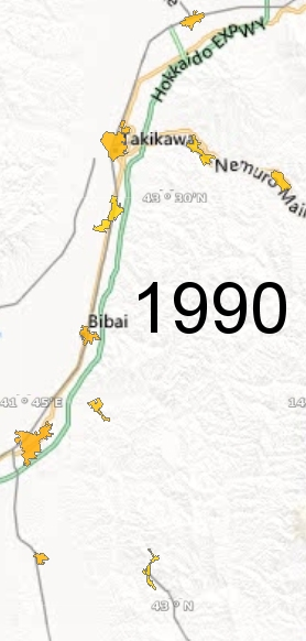 Sorachi Region, 1990