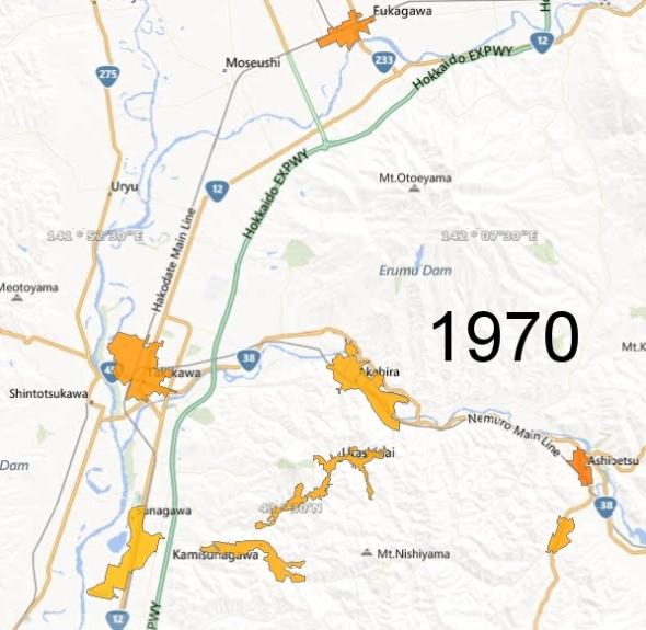 Northern Sorachi County, 1970
