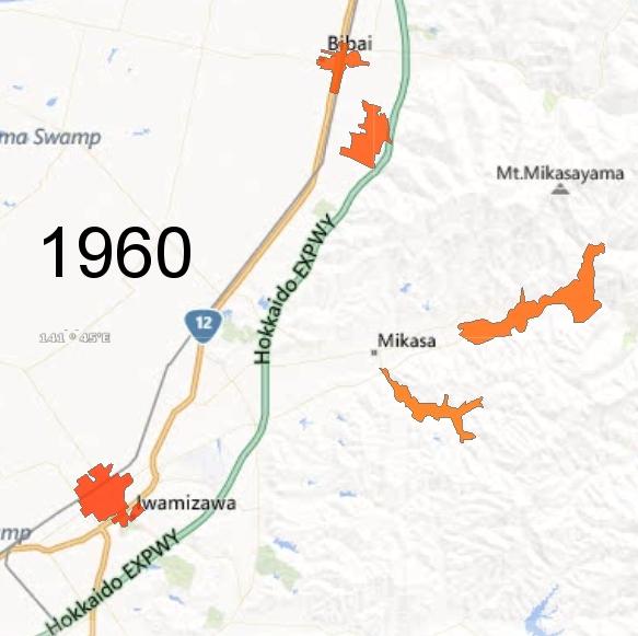 Southern Sorachi County Detail, 1960