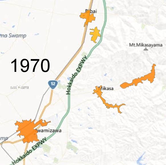 Southern Sorachi County Detail, 1970