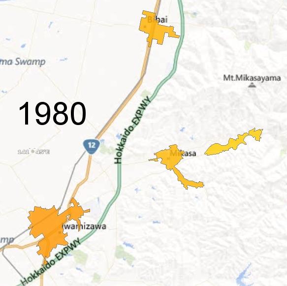 Southern Sorachi County Detail, 1980