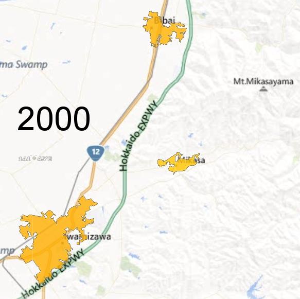Southern Sorachi County Detail, 2000