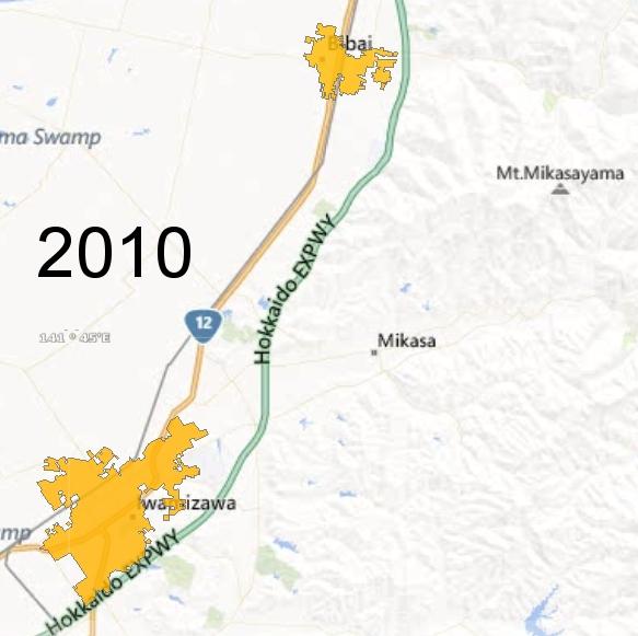 Southern Sorachi County Detail, 2010
