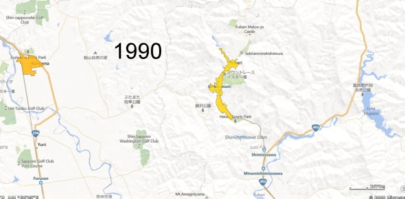 Yubari County Detail, 1990