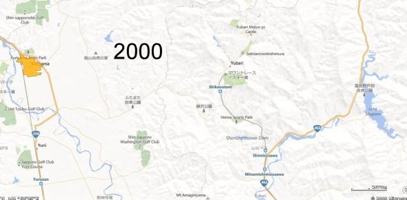 Yubari County Detail, 2000