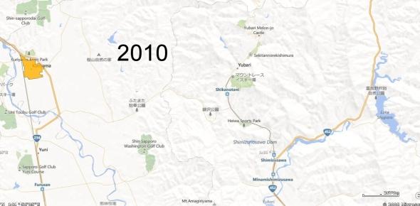 Yubari County Detail, 2010