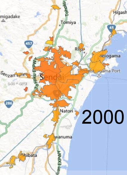 Sendai Metro Area, 2000