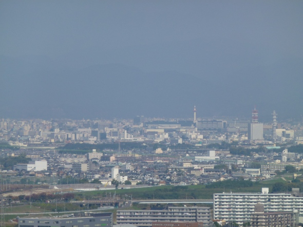...and here is downtown Kyoto, not very architecturally striking but no less densely urban.  Note Kyoto Tower slightly right of center.
