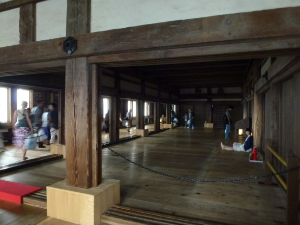 A more open section of the first floor.