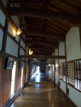 Inside the hall.