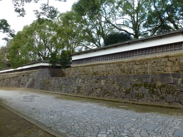 The outer estate wall is low and unassuming.